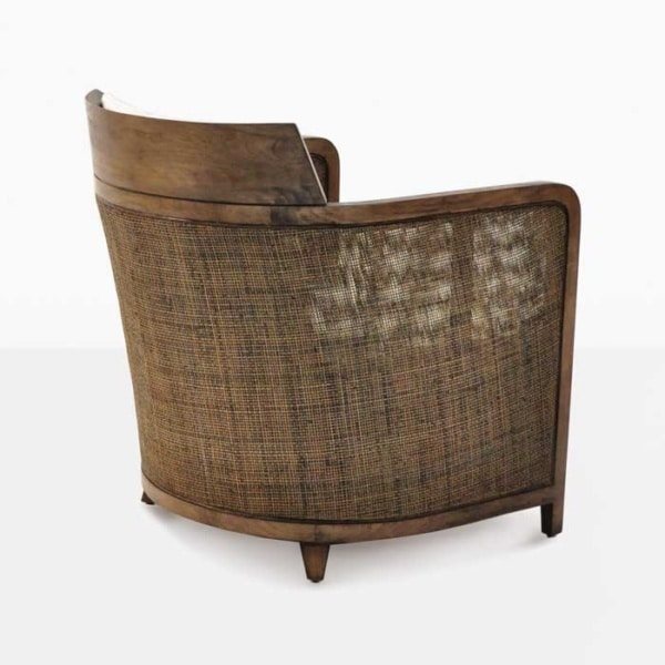 indoor wicker lounge chair with cushion