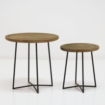 Iron Reclaimed Teak Side Tables-0