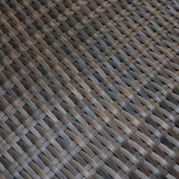 rocco outdoor wicker side table java closeup