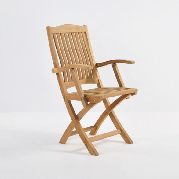 kensington teak folding armchair