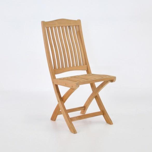 kensington teak folding side chair