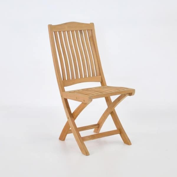 kensington teak folding side chair