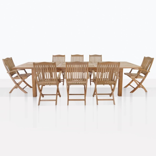 Kensington Teak Dining Set For 8