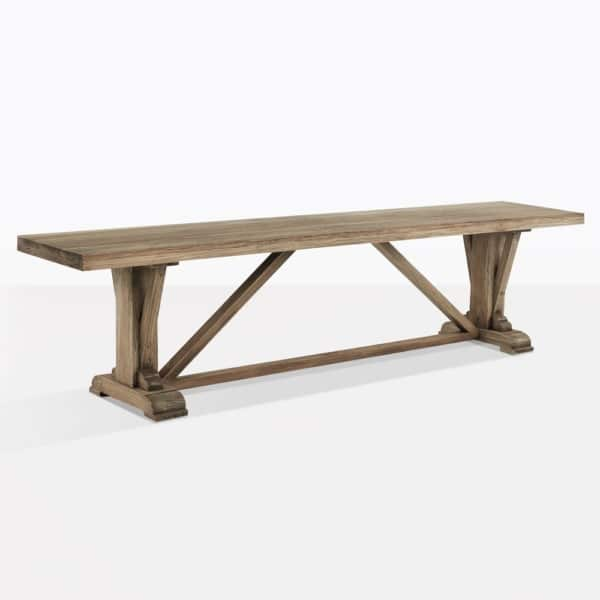 Kingsley Aged Teak Backless Dining Bench