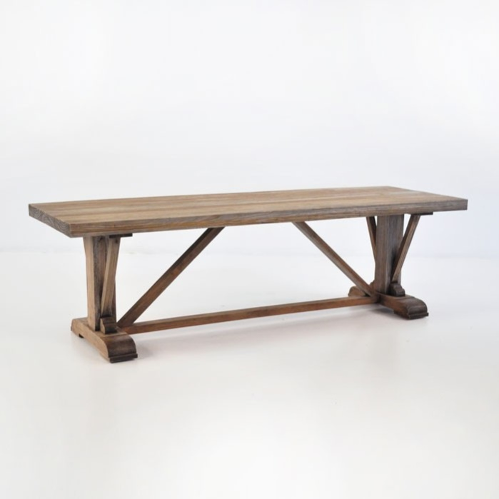 Kingsley Long Reclaimed Teak Rustic Coffee Table-0