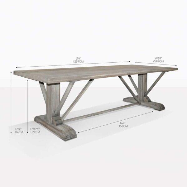 kingsley reclaimed teak wood dining table