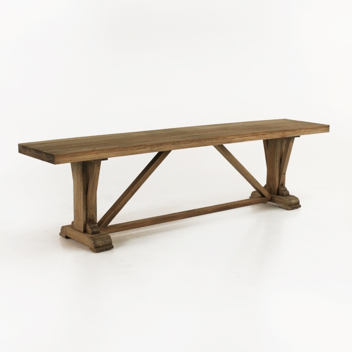 Kingsley Reclaimed Teak Bench-0