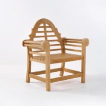 Lutyens Teak Relaxing Outdoor Chair-0