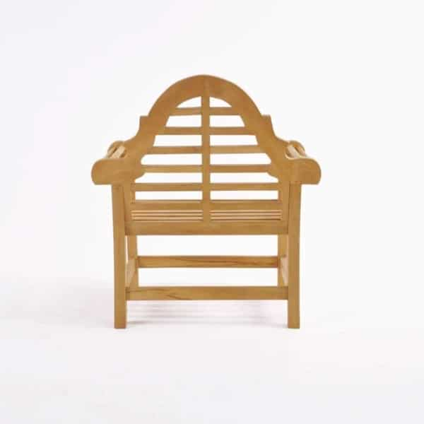 lutyens teak outdoor chair back view