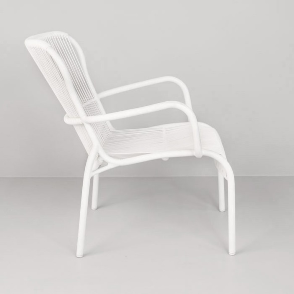 white outdoor relaxing chair