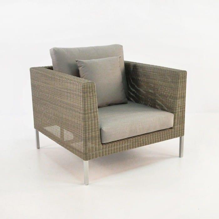 madison outdoor wicker lounge chair stonewash teak
