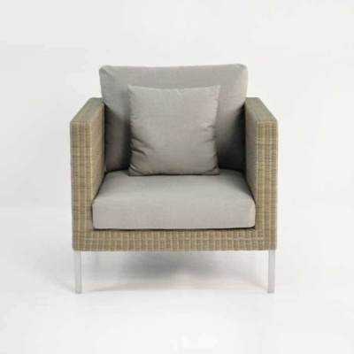 madison stonewash wicker club chair