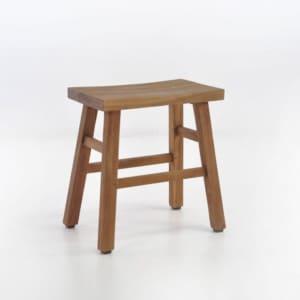 maid reclaimed teak stool