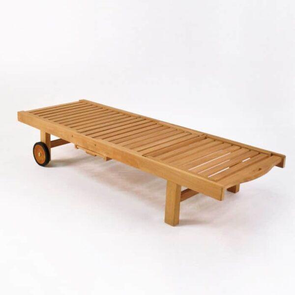 malibu teak chaise lounge flat without cushion