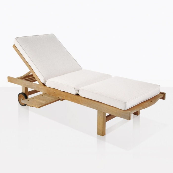 Malibu Teak Sun Lounger With Cushion