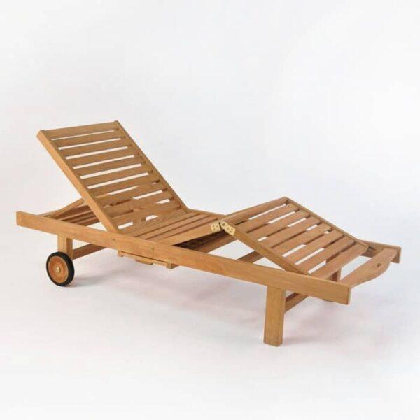 malibu teak chaise lounge without cushion
