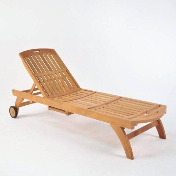 maui teak chaise lounge
