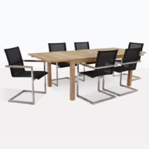 Monaco And Teak Dining Table Set