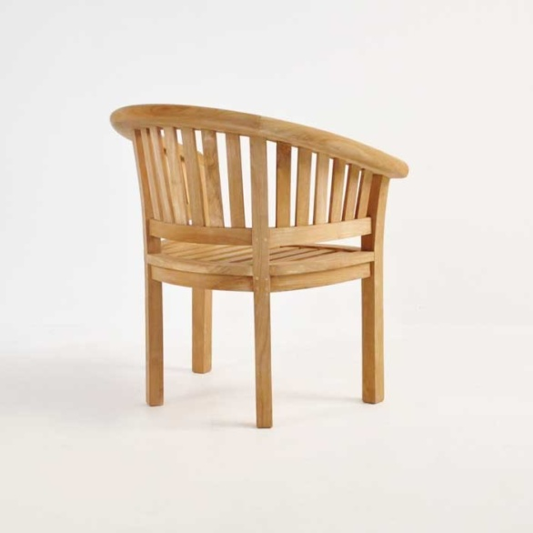 monet teak chair back angle view