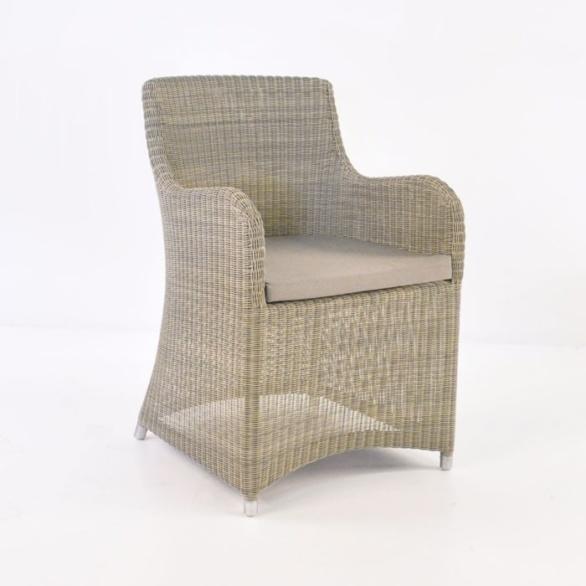 moni wicker dining chair stonewash