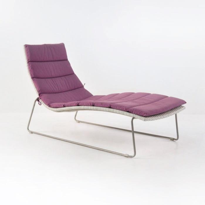 Monroe Outdoor Wicker Sun Lounger-0