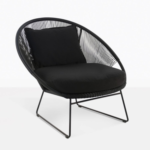 Natalie Black Retro Relaxing Chair
