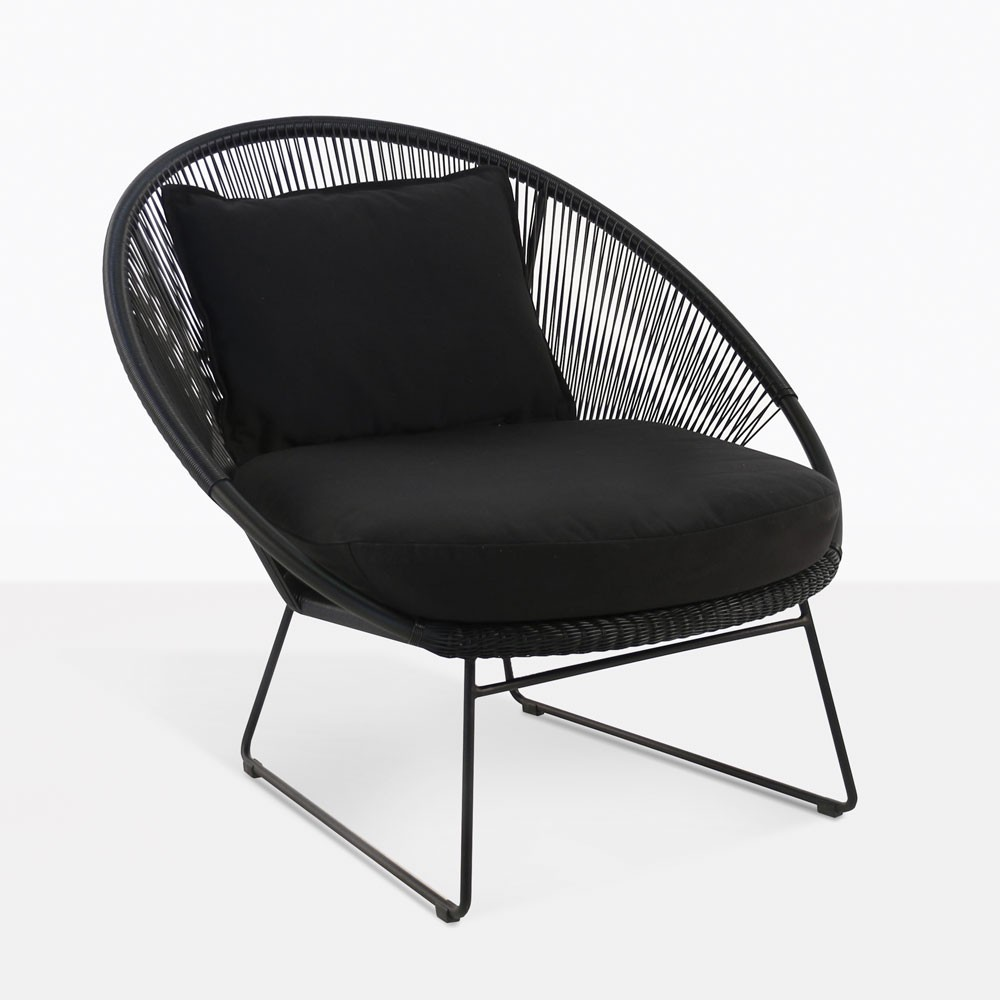 natalie outdoor lounge chair black teak warehouse. Black Bedroom Furniture Sets. Home Design Ideas