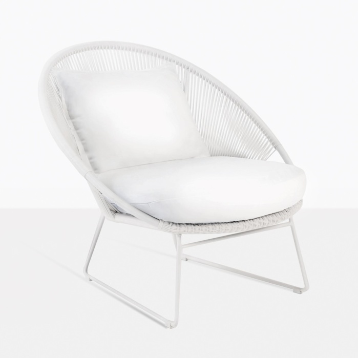 Astounding Natalie Outdoor Relaxing Lounge Chair White Ncnpc Chair Design For Home Ncnpcorg