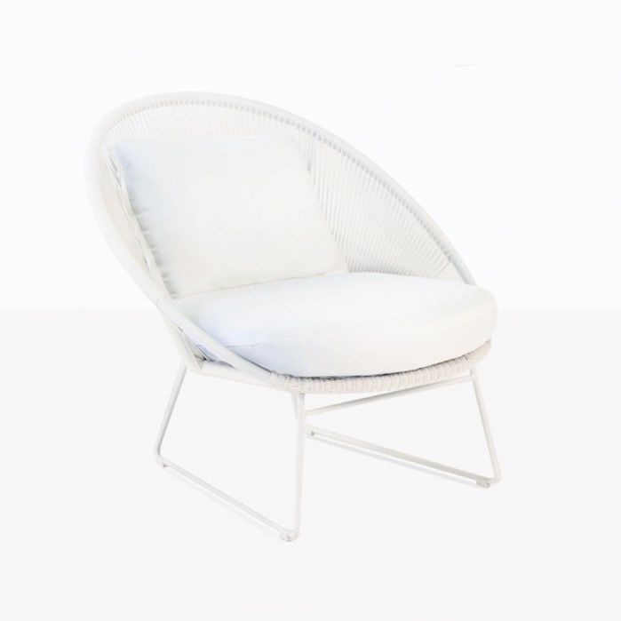 Natalie Outdoor Relaxing Lounge Chair (White) 0