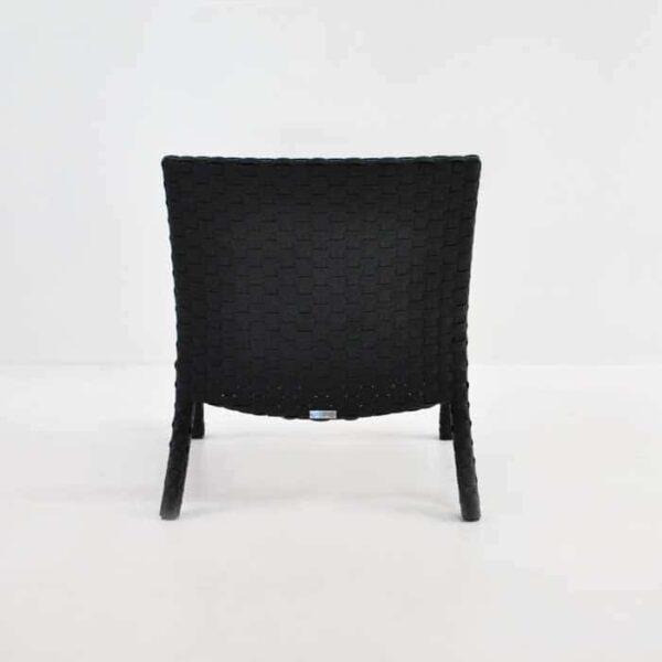 noir outdoor relaxing chair back view