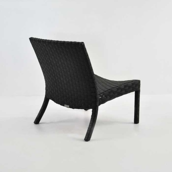 noir outdoor relaxing chair back angle view