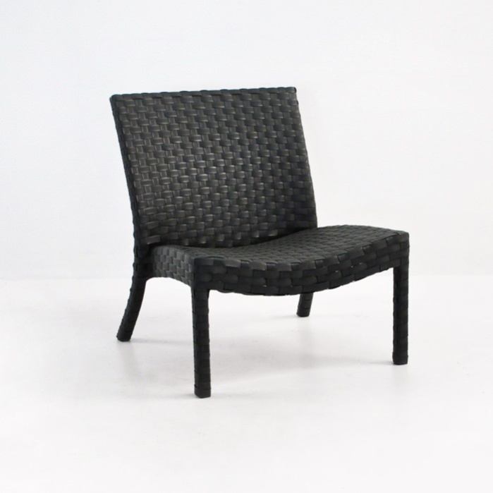 Noir Outdoor Wicker Relaxing Chair 0