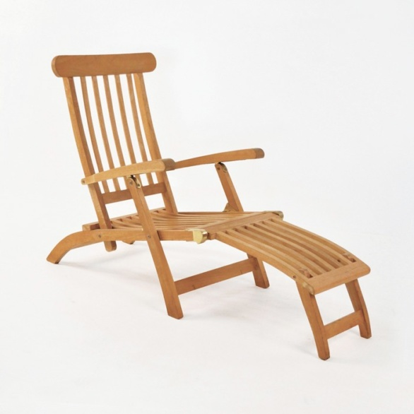 Normal Teak Steamer Chair Without Cushion