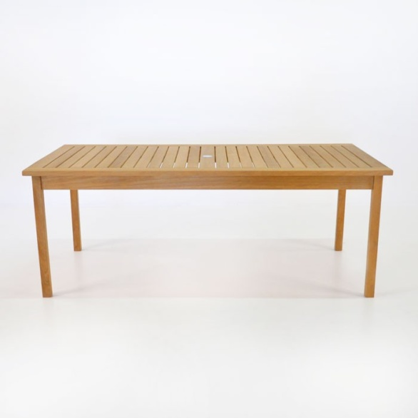 ... Nova Fixed Rectangle Outdoor Dining Table Side View. U201c