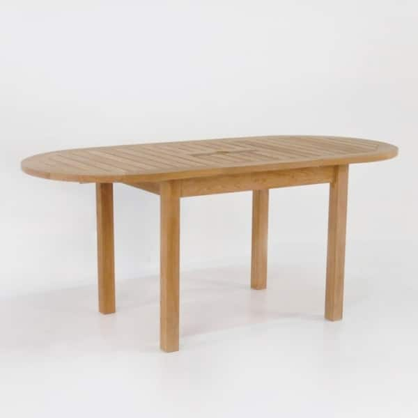 Patio furniture - nova oval teak extension table 51in