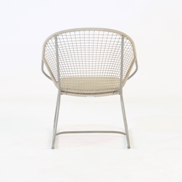 outdoor wicker arm chair back view