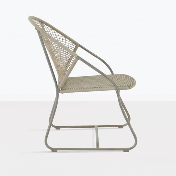 Omega Modern Wicker Dining Chair side