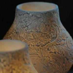 organic carved votive