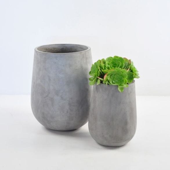 Brooklyn Concrete Planter Tall Outdoor Accessories