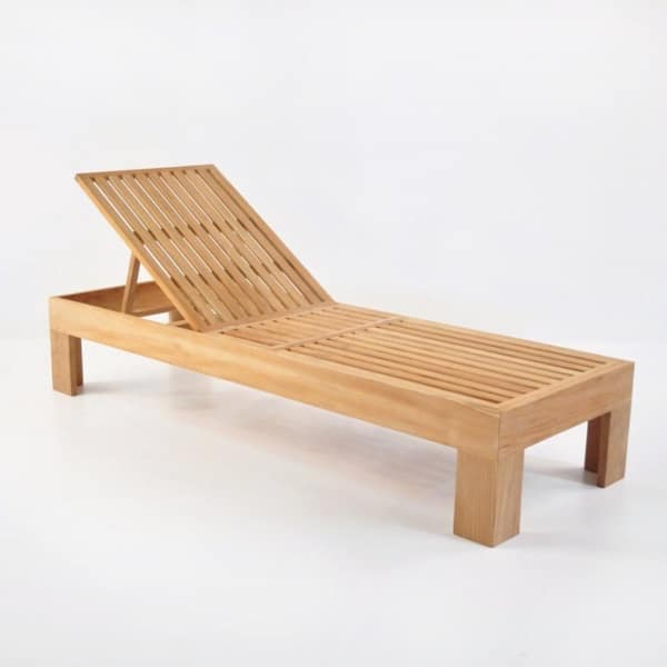 palm teak chaise lounge without cushion