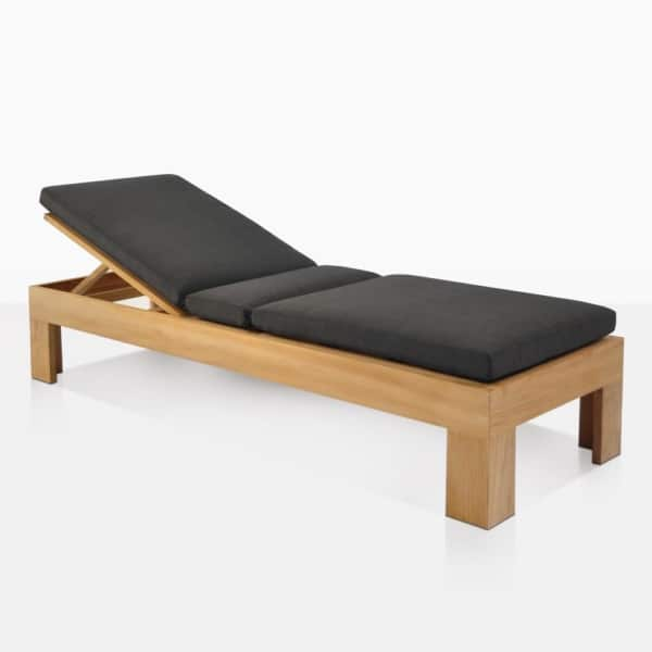 Palm Teak Adjustable Sun Lounger With Cushion