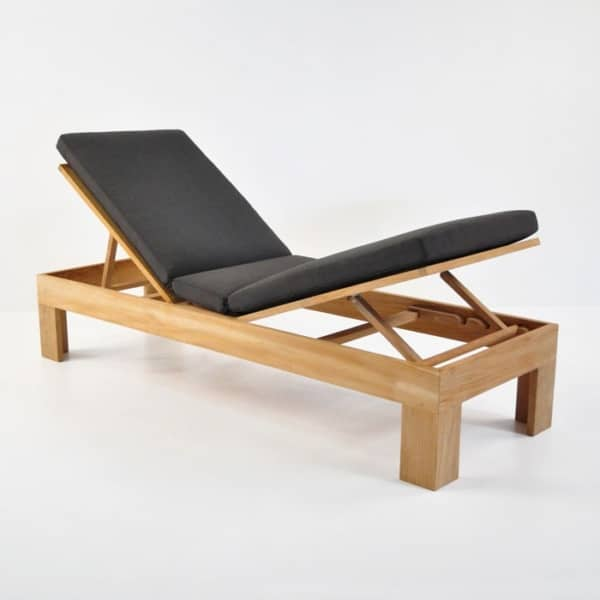 palm teak chaise lounge raised