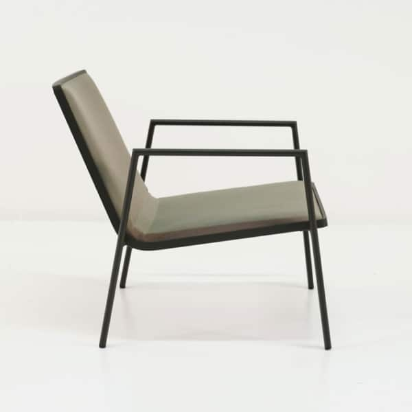 panama aluminum outdoor chair side view