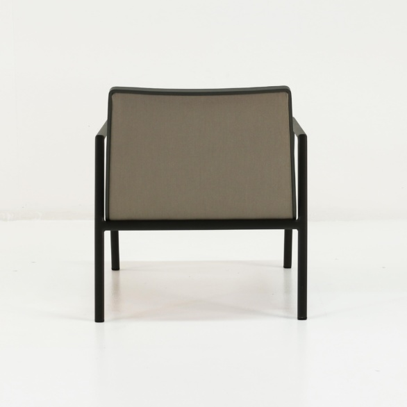 panama aluminum outdoor chair back view