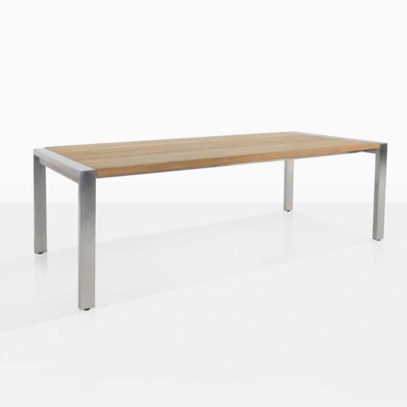 Plank Teak And Steel Dining Table