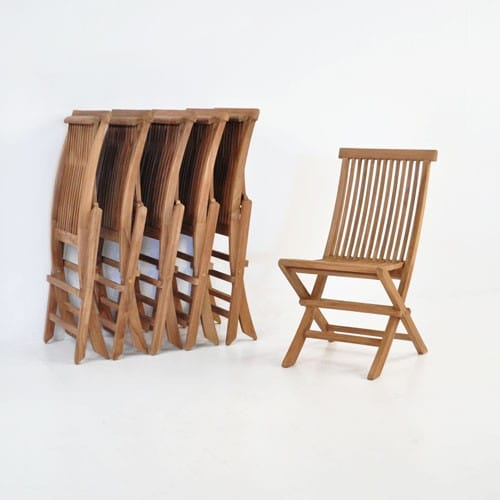handy prego teak stacking chairs