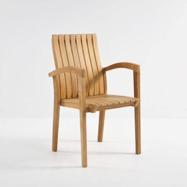 Patio furniture - Raffles Teak Stacking Dining Chair-0