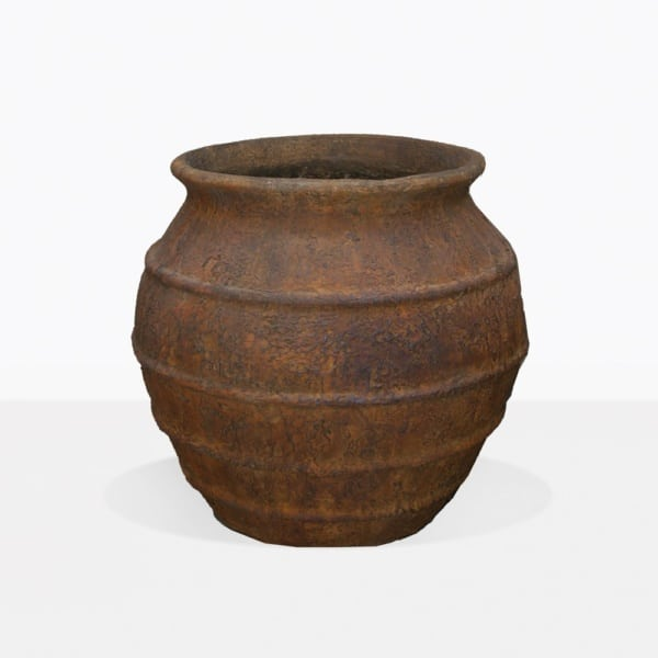 Ranto Round Rustic Outdoor Pot