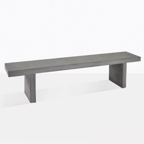 Raw Concrete Outdoor Dining Bench