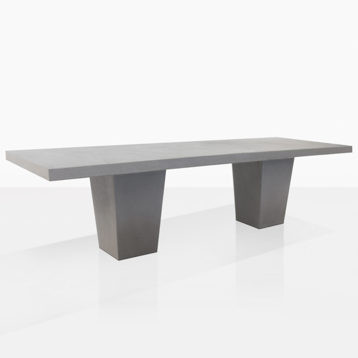 Tapered eg Raw concrete table